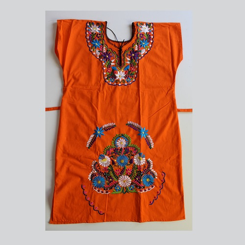 Mini Robe Mexicaine - Taille M - Orange