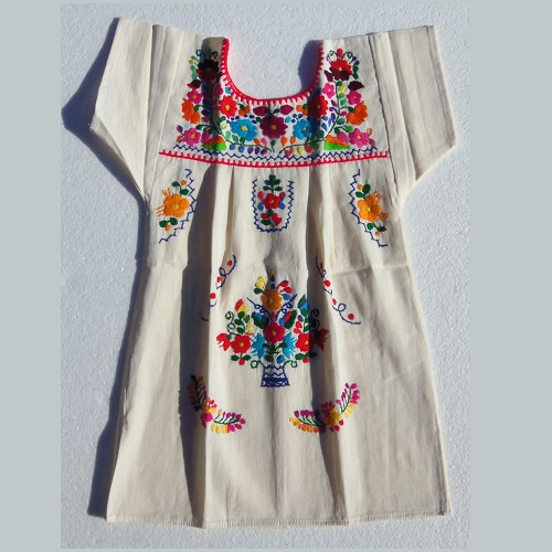 Robe Mexicaine - Taille 6 ans - Crème