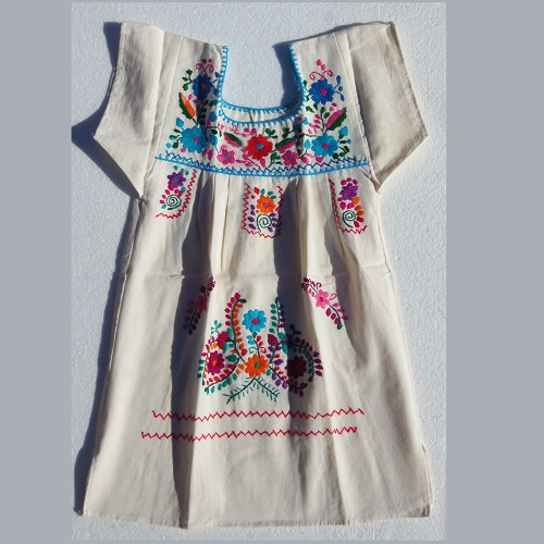 Robe Mexicaine - Taille 6 ans - Crème I