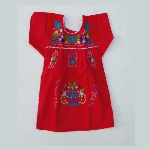 Robe Mexicaine - Taille 2 ans - Rouge I
