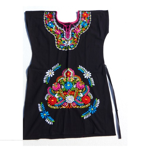 Robe Mexicaine - Taille L - Noire