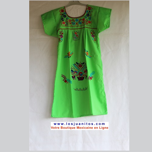 Robe Mexicaine - Taille 8 ans - Vert