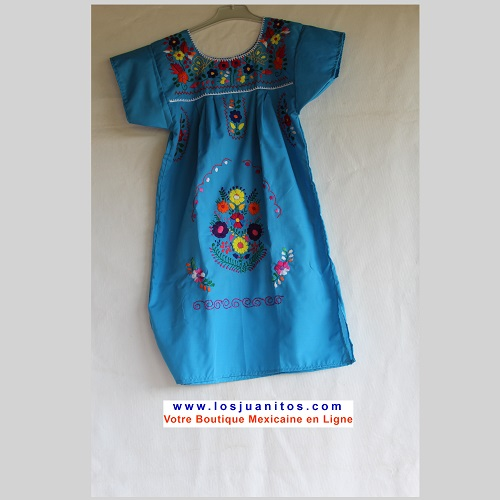 Robe Mexicaine - Taille 8 ans - Bleu