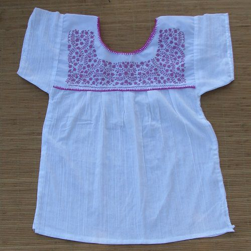 Blouse Mexicaine Brodée - Blanc N°1 - M