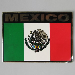 Calcomanias de la Bandera Mexicana N°7