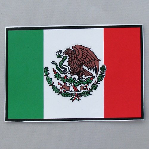 Calcomania de la Bandera Mexicana N°10