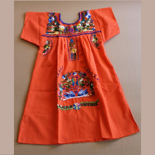 Robe Mexicaine - Taille 8 ans - Orange
