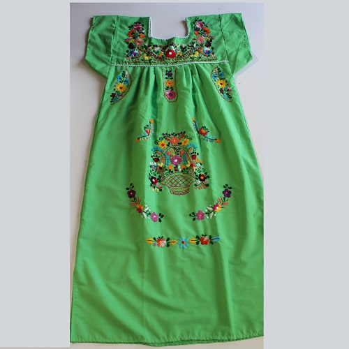 Robe Mexicaine - Taille M - Verte