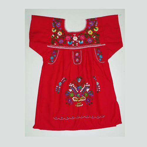 Robe Mexicaine - Taille 4 ans - Rouge