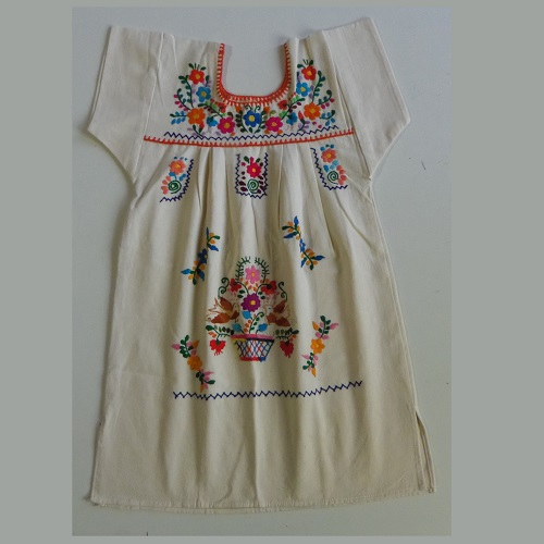 Robe Mexicaine - Taille 8 ans - Crème