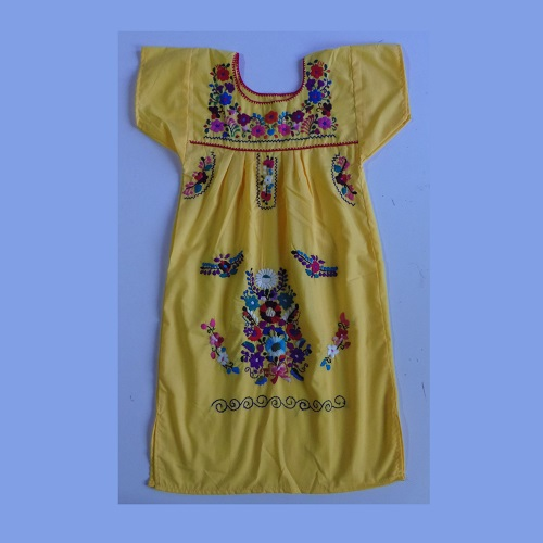 Robe Mexicaine - Taille 12 ans - Jaune