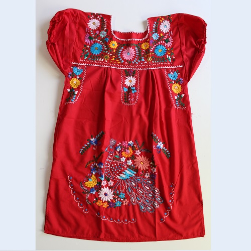 Mini Robe Mexicaine - Taille L - Rouge
