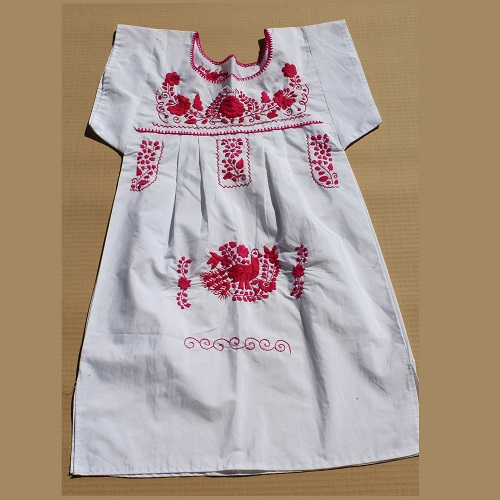 Mini Robe Mexicaine - Taille XS - Blanche I