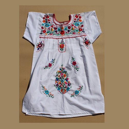 Mini Robe Mexicaine - Taille XS - Blanche II