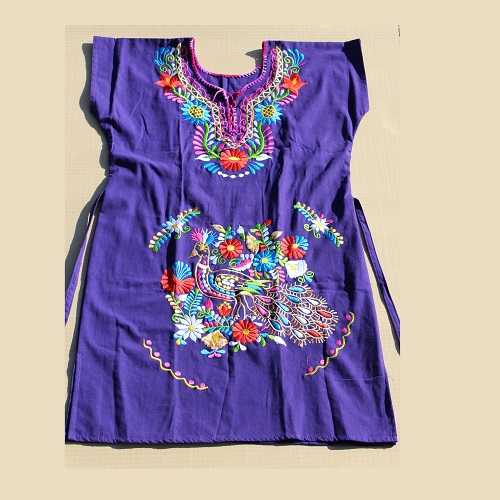 Robe Mexicaine - Taille L - Violette