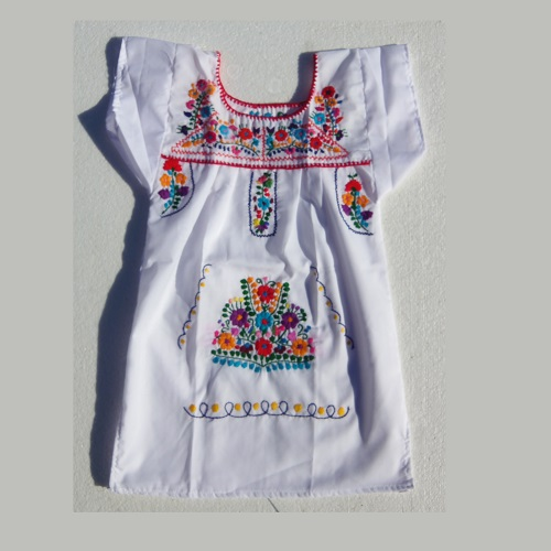 Robe Mexicaine - Taille 6 ans - Blanche VI