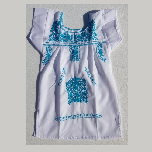 Robe Mexicaine - Taille 6 ans - Blanche IV