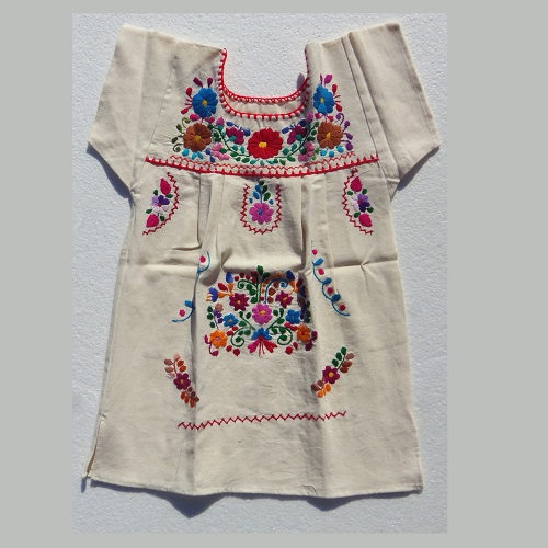 Robe Mexicaine - Taille 6 ans - Crème III