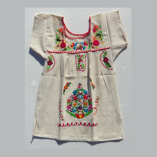 Robe Mexicaine - Taille 6 ans - Crème II
