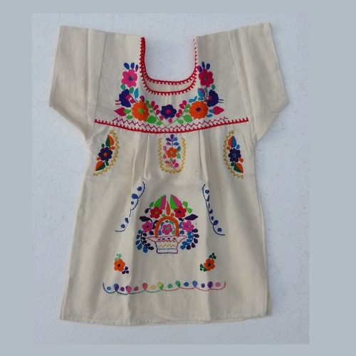 Robe Mexicaine - Taille 2 ans - Crème II