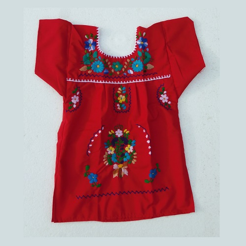 Robe Mexicaine - Taille 2 ans - Rouge