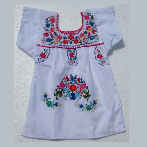 Robe Mexicaine - Taille 2 ans - Blanche II