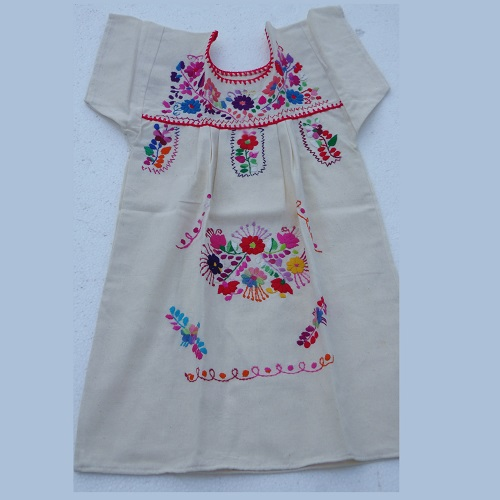 Robe Mexicaine - Taille 8 ans - Crème I