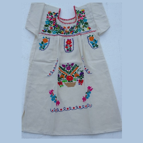Robe Mexicaine - Taille 8 ans - Crème II
