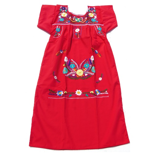 Robe Mexicaine - Taille XS - Rouge