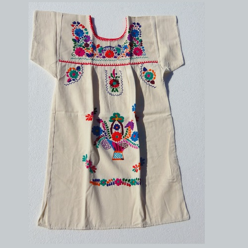 Robe Mexicaine - Taille 12 ans - Crème II