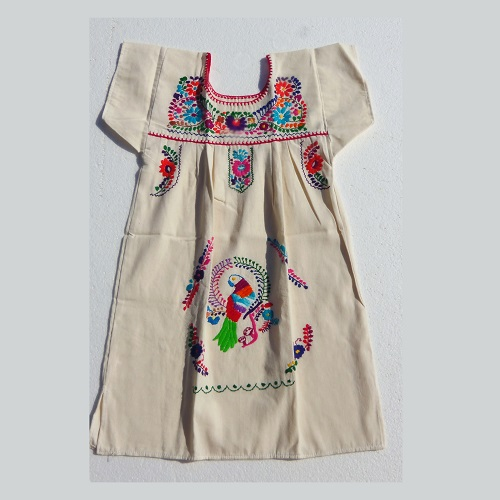 Robe Mexicaine - Taille 10 ans - Crème