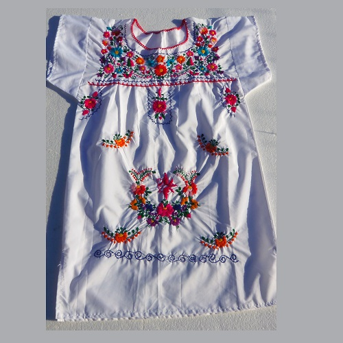 Robe Mexicaine - Taille 14 ou 16 ans - Blanche III