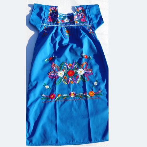 Robe Mexicaine - Taille S - Bleu