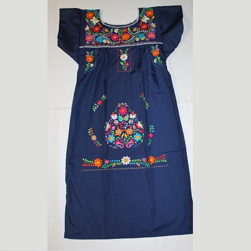 Robe Mexicaine - Taille S - Bleue