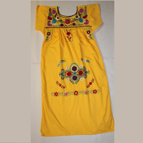 Robe Mexicaine - Taille XS - Jaune