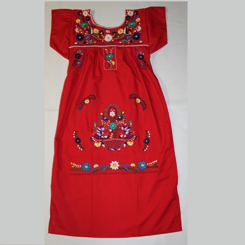 Robe Mexicaine - Taille S - Rouge II