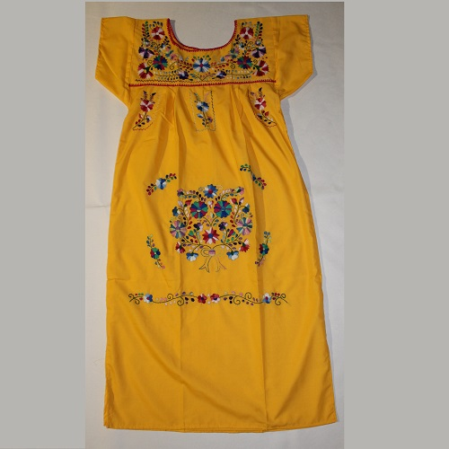 Robe Mexicaine - Taille S - Jaune