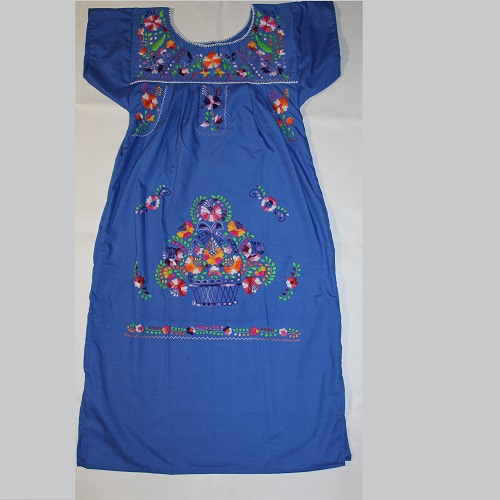 Robe Mexicaine - Taille S - Bleu II