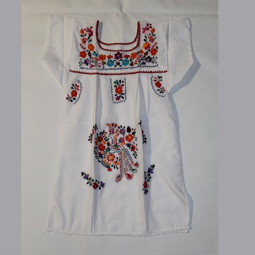 Robe Mexicaine - Taille 4 ans - Blanche VII