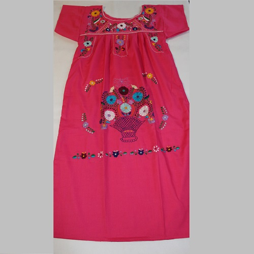Robe Mexicaine - Taille M - Rose