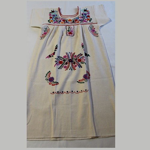 Robe Mexicaine - Taille M - Crème