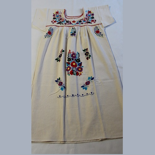 Robe Mexicaine - Taille S - Crème II