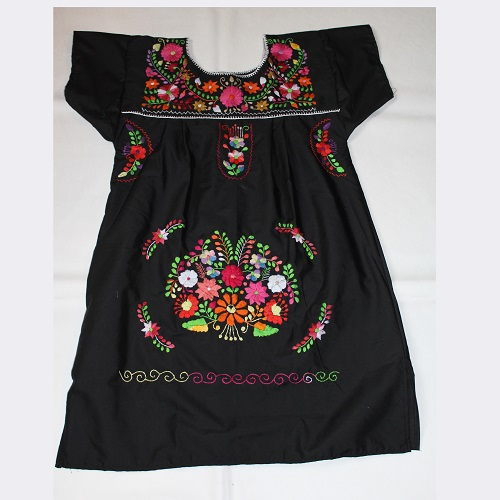 Mini Robe Mexicaine - Taille M - Noire III