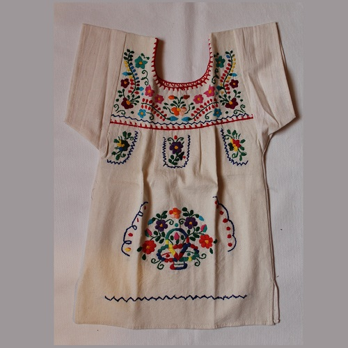 Robe Mexicaine - Taille 4 ans - Crème