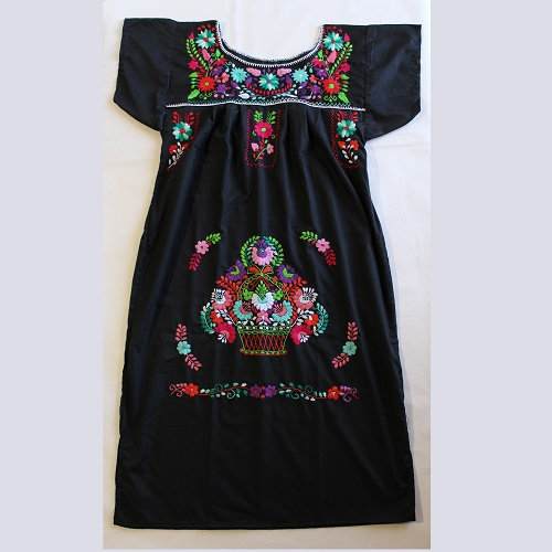 Robe Mexicaine - Taille L - Noire II