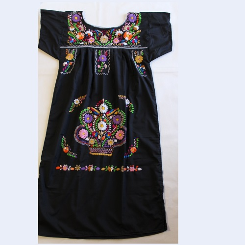 Robe Mexicaine - Taille L - Noire IV