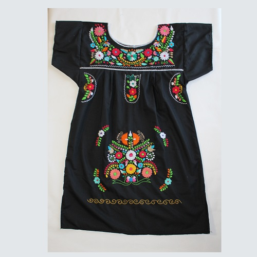 Mini Robe Mexicaine - Taille L - Noire I
