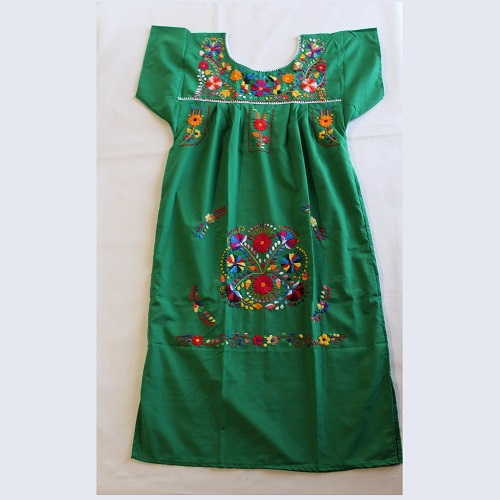 Robe Mexicaine - Taille S - Verte II