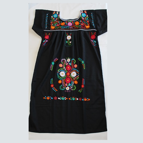 Robe Mexicaine - Taille XXL - Noire