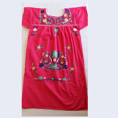 Robe Mexicaine - Taille XXL - Rose